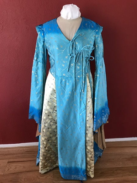 Game of Thrones Blue Dress Front.