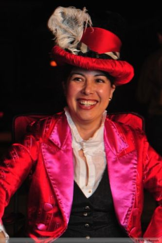 Red and Pink Ringmaster Tailcoat photo by Nicholas Burlett