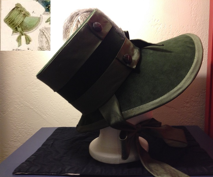 Reproduction Regency Olive Bonnet