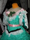 teal roses fancy dressbodice three quarter left view
