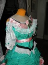 teal roses fancy dressbodice three quarter right view