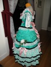 teal roses fancy dress left view
