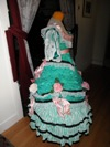 teal roses fancy dress right view