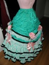 teal roses fancy dress skirt