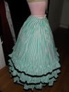 teal roses fancy dress underskirt right view