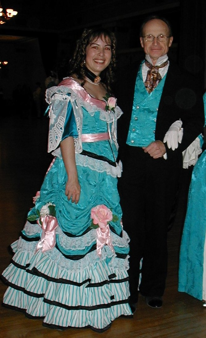 teal roses fancy dress