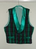 Butterick 3721 L green plaid double breasted Victorian reproduction waistcoat