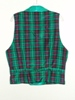 Butterick 3721 L green plaid double breasted Victorian reproduction waistcoat back