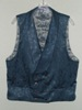 Butterick 3721 L slate blue double breasted Victorian reproduction waistcoat