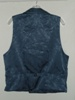 Butterick 3721 L slate blue double breasted Victorian reproduction waistcoat back