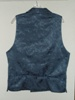Butterick 3721 L Tall slate blue double breasted Victorian reproduction waistcoat back