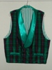 Butterick 3721 XL green plaid double breasted Victorian reproduction waistcoat