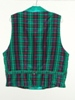 Butterick 3721 XL green plaid double breasted Victorian reproduction waistcoat back